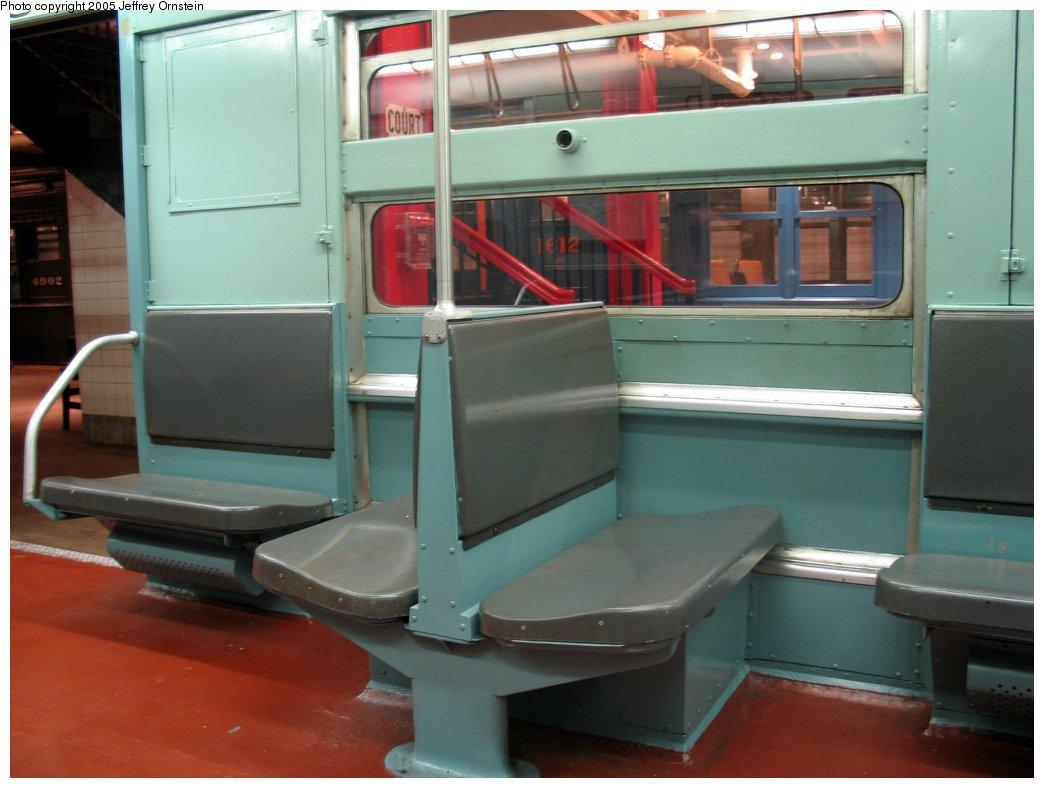 (115k, 1044x788)<br><b>Country:</b> United States<br><b>City:</b> New York<br><b>System:</b> New York City Transit<br><b>Location:</b> New York Transit Museum<br><b>Car:</b> R-11 (Budd, 1949) 8013 <br><b>Photo by:</b> Jeffrey Ornstein<br><b>Date:</b> 8/19/2005<br><b>Viewed (this week/total):</b> 10 / 3855