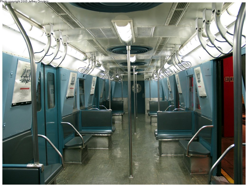 (164k, 1044x788)<br><b>Country:</b> United States<br><b>City:</b> New York<br><b>System:</b> New York City Transit<br><b>Location:</b> New York Transit Museum<br><b>Car:</b> R-16 (American Car & Foundry, 1955) 6387 <br><b>Photo by:</b> Jeffrey Ornstein<br><b>Date:</b> 8/19/2005<br><b>Viewed (this week/total):</b> 1 / 3794