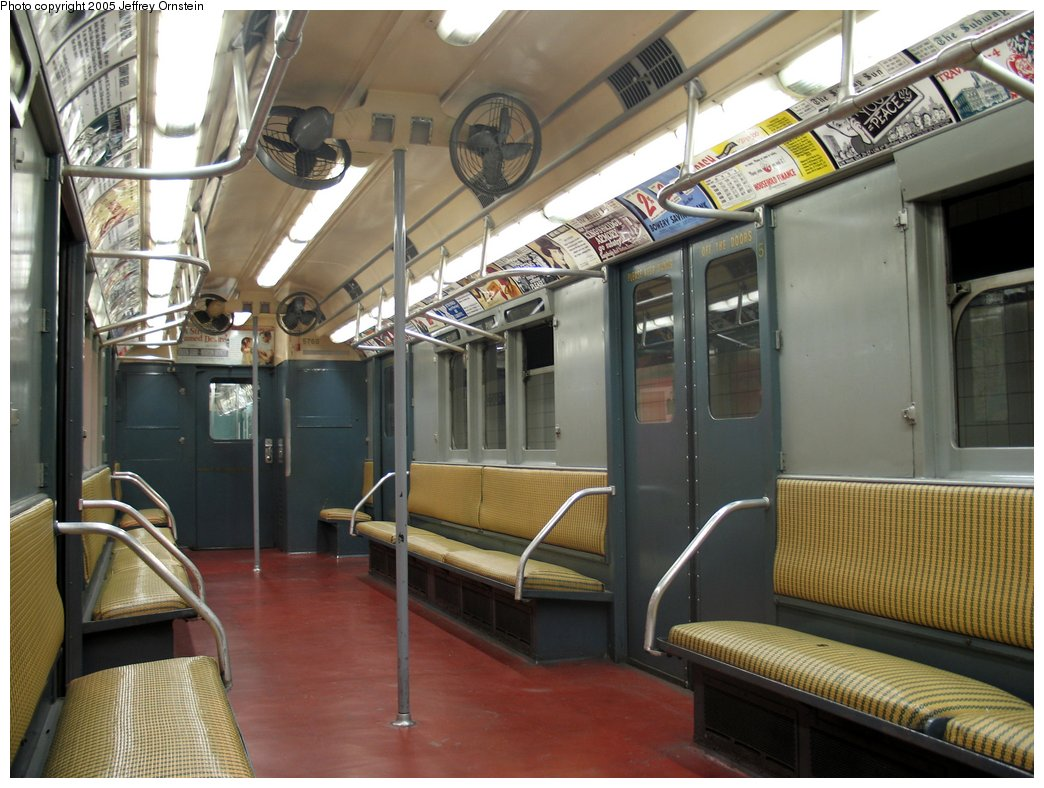 (165k, 1044x788)<br><b>Country:</b> United States<br><b>City:</b> New York<br><b>System:</b> New York City Transit<br><b>Location:</b> New York Transit Museum<br><b>Car:</b> R-12 (American Car & Foundry, 1948) 5760 <br><b>Photo by:</b> Jeffrey Ornstein<br><b>Date:</b> 8/19/2005<br><b>Viewed (this week/total):</b> 0 / 3570