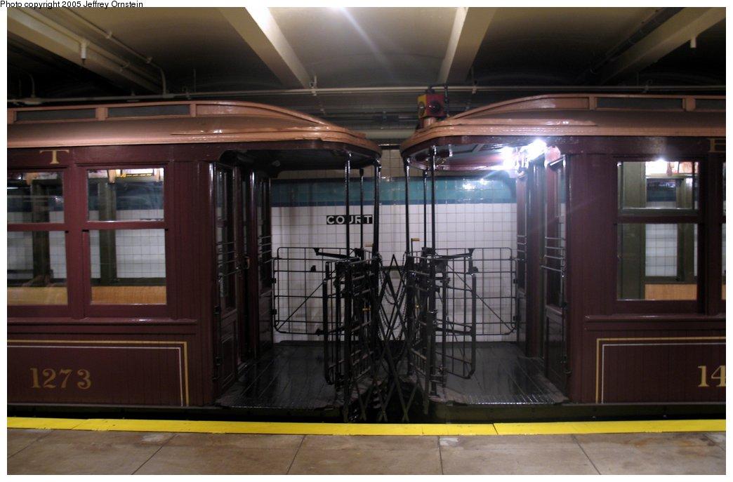 (118k, 1044x687)<br><b>Country:</b> United States<br><b>City:</b> New York<br><b>System:</b> New York City Transit<br><b>Location:</b> New York Transit Museum<br><b>Car:</b> BMT Elevated Gate Car 1273/1404 <br><b>Photo by:</b> Jeffrey Ornstein<br><b>Date:</b> 8/19/2005<br><b>Viewed (this week/total):</b> 0 / 4537