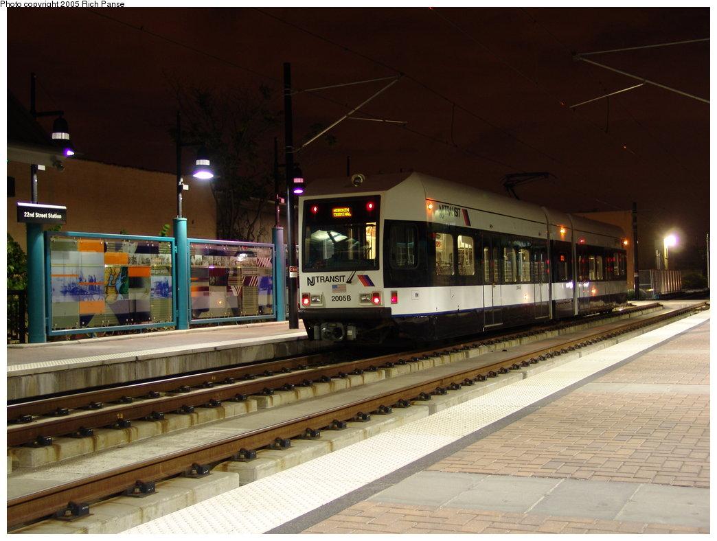 (167k, 1044x788)<br><b>Country:</b> United States<br><b>City:</b> Bayonne, NJ<br><b>System:</b> Hudson Bergen Light Rail<br><b>Location:</b> East 22nd Street <br><b>Car:</b> NJT-HBLR LRV (Kinki-Sharyo, 1998-99)  2005 <br><b>Photo by:</b> Richard Panse<br><b>Date:</b> 8/26/2005<br><b>Viewed (this week/total):</b> 0 / 2834