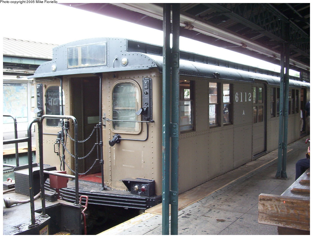 (184k, 1044x793)<br><b>Country:</b> United States<br><b>City:</b> New York<br><b>System:</b> New York City Transit<br><b>Line:</b> BMT Brighton Line<br><b>Location:</b> Ocean Parkway <br><b>Route:</b> Fan Trip<br><b>Car:</b> BMT D-Type Triplex 6112 <br><b>Photo by:</b> Mike Fioriello<br><b>Date:</b> 9/28/2003<br><b>Viewed (this week/total):</b> 0 / 2981