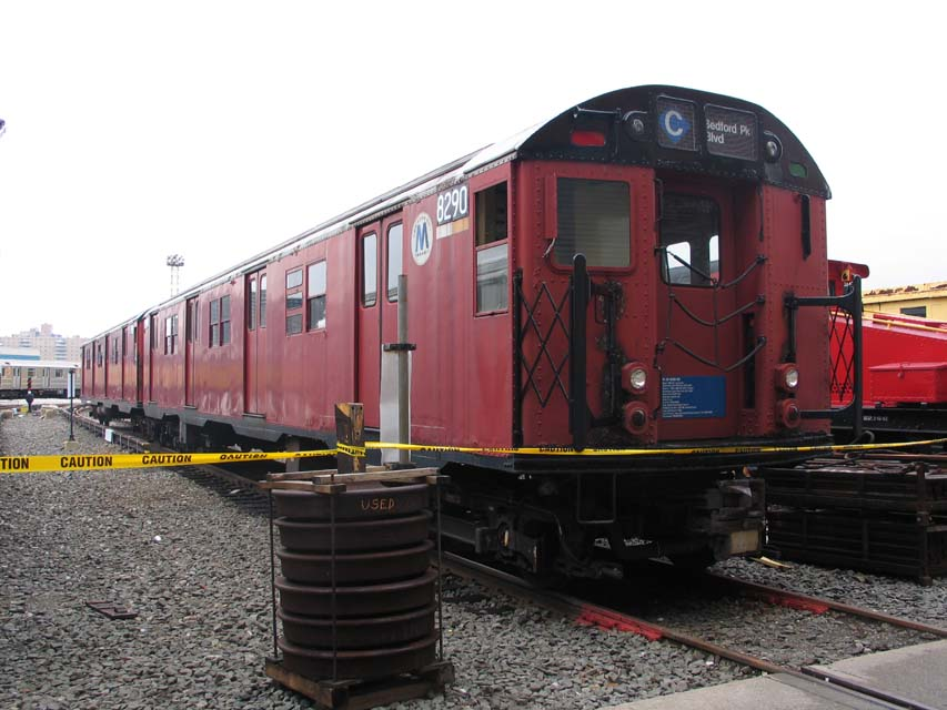 (90k, 853x640)<br><b>Country:</b> United States<br><b>City:</b> New York<br><b>System:</b> New York City Transit<br><b>Location:</b> Coney Island Yard-Training Facilities<br><b>Car:</b> R-30 (St. Louis, 1961) 8290 <br><b>Photo by:</b> Michael Pompili<br><b>Date:</b> 4/3/2004<br><b>Viewed (this week/total):</b> 2 / 7920
