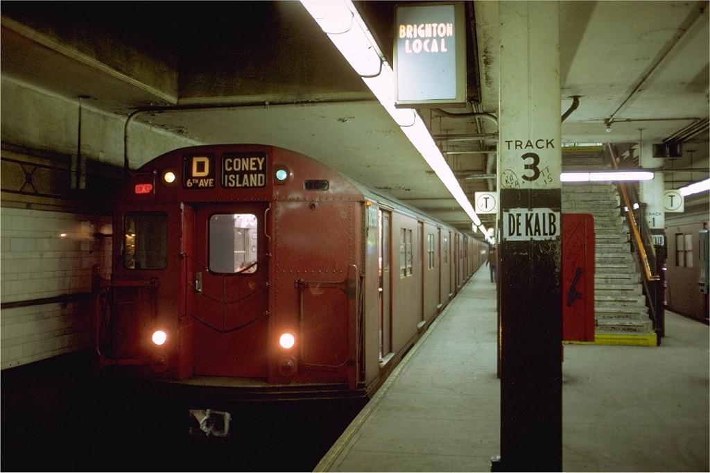 (163k, 1024x682)<br><b>Country:</b> United States<br><b>City:</b> New York<br><b>System:</b> New York City Transit<br><b>Location:</b> DeKalb Avenue<br><b>Route:</b> D<br><b>Car:</b> R-30 (St. Louis, 1961) 8298 <br><b>Photo by:</b> Doug Grotjahn<br><b>Collection of:</b> Joe Testagrose<br><b>Date:</b> 5/11/1969<br><b>Viewed (this week/total):</b> 3 / 3480
