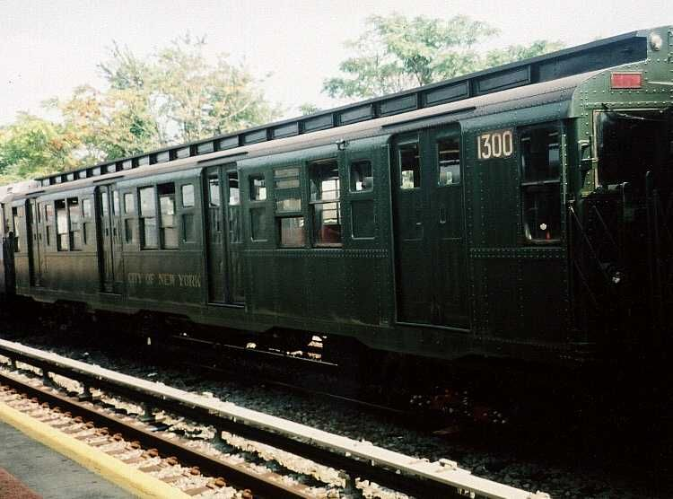 (59k, 750x556)<br><b>Country:</b> United States<br><b>City:</b> New York<br><b>System:</b> New York City Transit<br><b>Location:</b> Rockaway Park Yard<br><b>Route:</b> Fan Trip<br><b>Car:</b> R-6-1 (Pressed Steel, 1936)  1300 <br><b>Photo by:</b> Gary Chatterton<br><b>Date:</b> 8/21/2005<br><b>Viewed (this week/total):</b> 1 / 2500