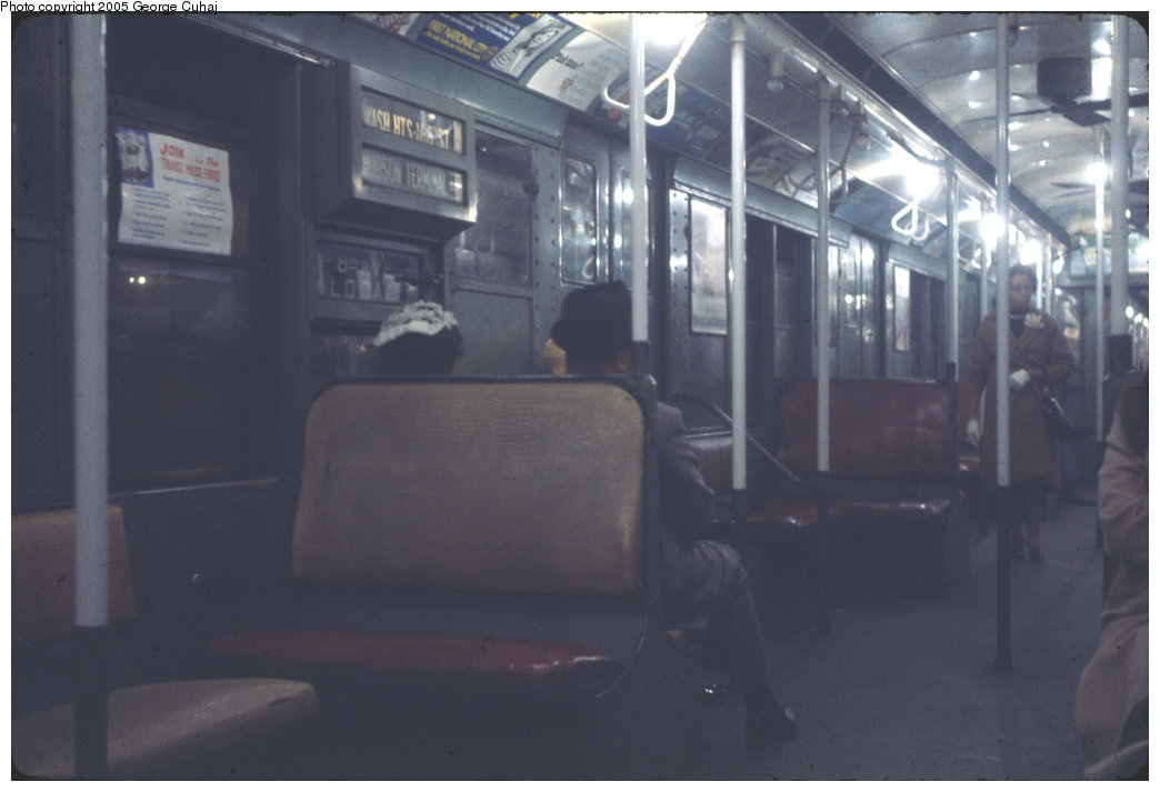 (128k, 1044x713)<br><b>Country:</b> United States<br><b>City:</b> New York<br><b>System:</b> New York City Transit<br><b>Car:</b> R-1/R-9 Series  Interior <br><b>Photo by:</b> George Cuhaj<br><b>Date:</b> 6/1965<br><b>Viewed (this week/total):</b> 0 / 1953