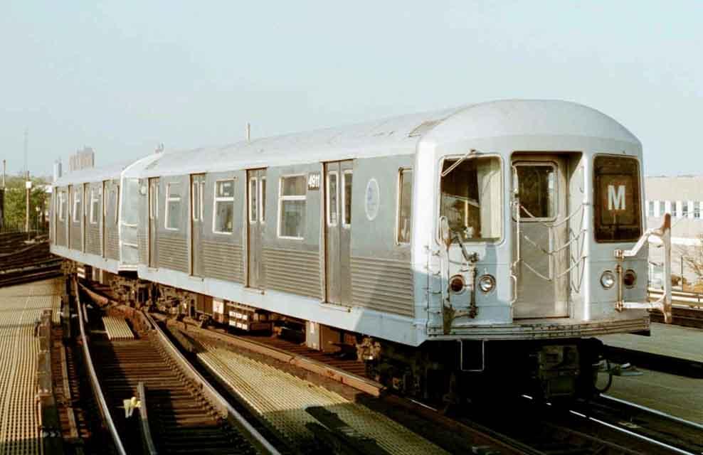 (42k, 988x640)<br><b>Country:</b> United States<br><b>City:</b> New York<br><b>System:</b> New York City Transit<br><b>Location:</b> Coney Island/Stillwell Avenue<br><b>Route:</b> M<br><b>Car:</b> R-42 (St. Louis, 1969-1970)  4911 <br><b>Photo by:</b> Michael Pompili<br><b>Date:</b> 10/23/2001<br><b>Viewed (this week/total):</b> 3 / 2913