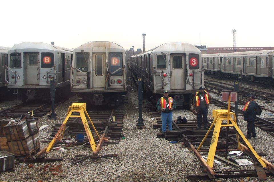 (150k, 960x640)<br><b>Country:</b> United States<br><b>City:</b> New York<br><b>System:</b> New York City Transit<br><b>Location:</b> Coney Island Yard<br><b>Car:</b> R-62 (Kawasaki, 1983-1985)  1405 <br><b>Photo by:</b> Michael Pompili<br><b>Date:</b> 4/3/2004<br><b>Viewed (this week/total):</b> 0 / 4426