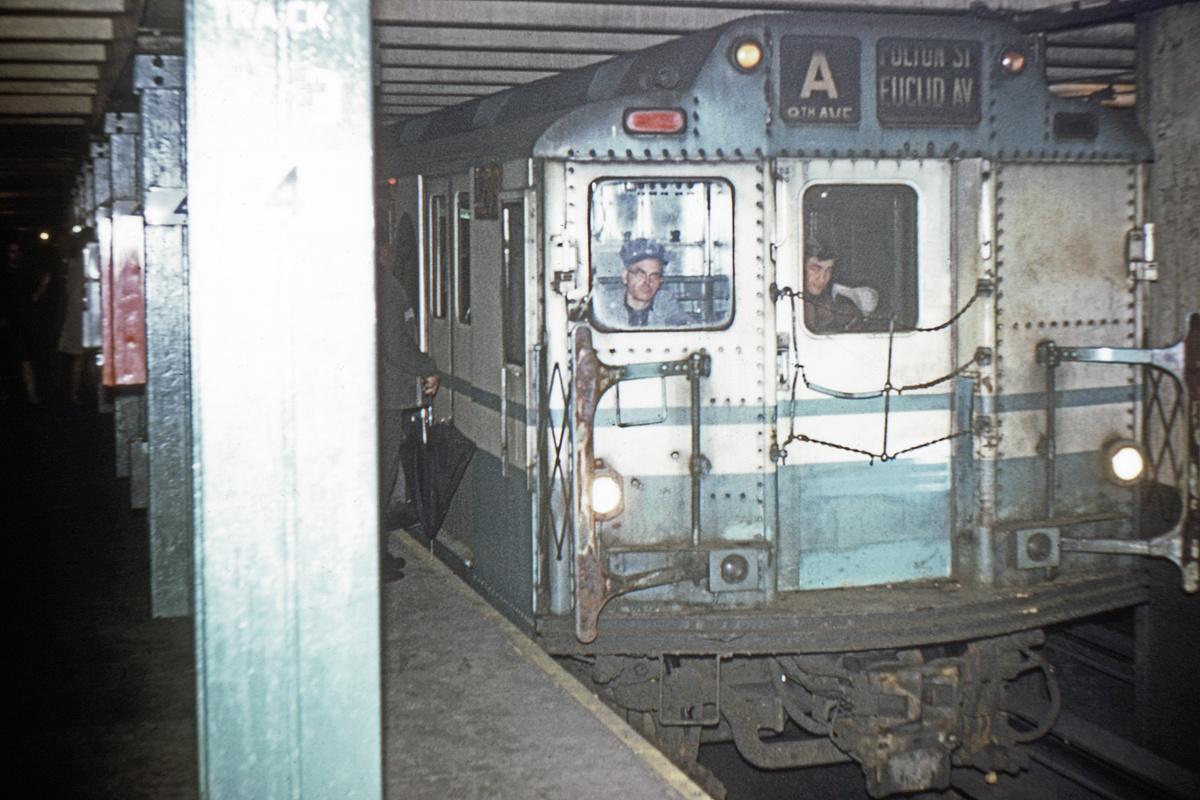 (282k, 1024x682)<br><b>Country:</b> United States<br><b>City:</b> New York<br><b>System:</b> New York City Transit<br><b>Line:</b> IND 8th Avenue Line<br><b>Location:</b> West 4th Street/Washington Square <br><b>Route:</b> A<br><b>Car:</b> R-10 (American Car & Foundry, 1948) 3299 <br><b>Collection of:</b> David Pirmann<br><b>Viewed (this week/total):</b> 0 / 1488