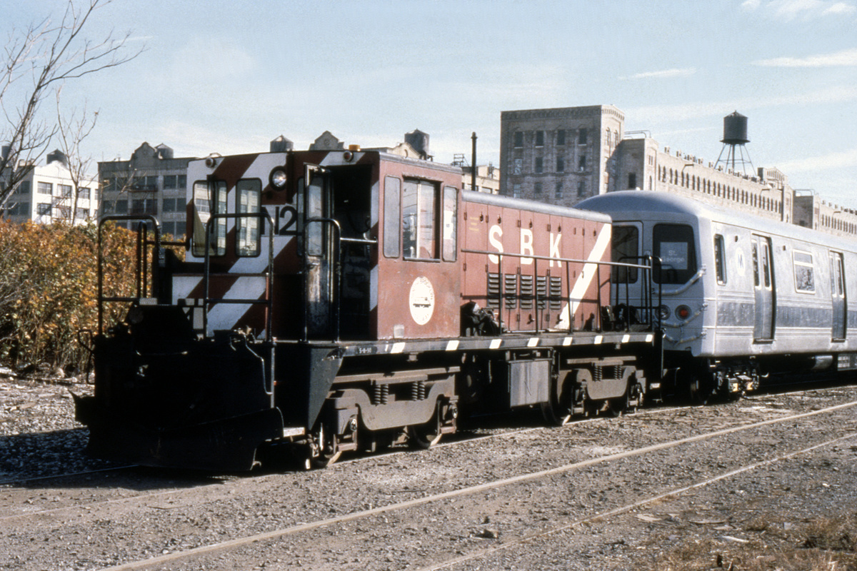 (494k, 1024x683)<br><b>Country:</b> United States<br><b>City:</b> New York<br><b>System:</b> New York City Transit<br><b>Line:</b> South Brooklyn Railway<br><b>Location:</b> SBK Yard (2nd Ave at 38th St.) (SBK)<br><b>Route:</b> Work Service<br><b>Car:</b> R-47 (SBK) Locomotive  N2 <br><b>Collection of:</b> David Pirmann<br><b>Viewed (this week/total):</b> 3 / 2447