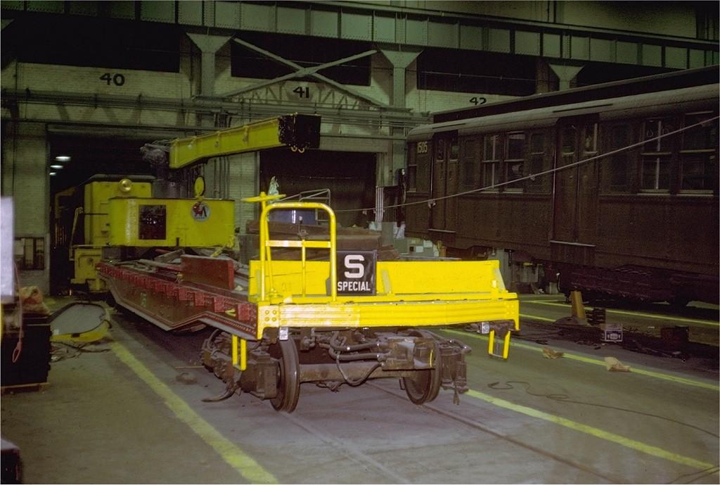 (187k, 1024x690)<br><b>Country:</b> United States<br><b>City:</b> New York<br><b>System:</b> New York City Transit<br><b>Location:</b> Coney Island Shop/Overhaul & Repair Shop<br><b>Car:</b> Crane Car 455 <br><b>Photo by:</b> Steve Zabel<br><b>Collection of:</b> Joe Testagrose<br><b>Date:</b> 1/15/1972<br><b>Viewed (this week/total):</b> 5 / 2868