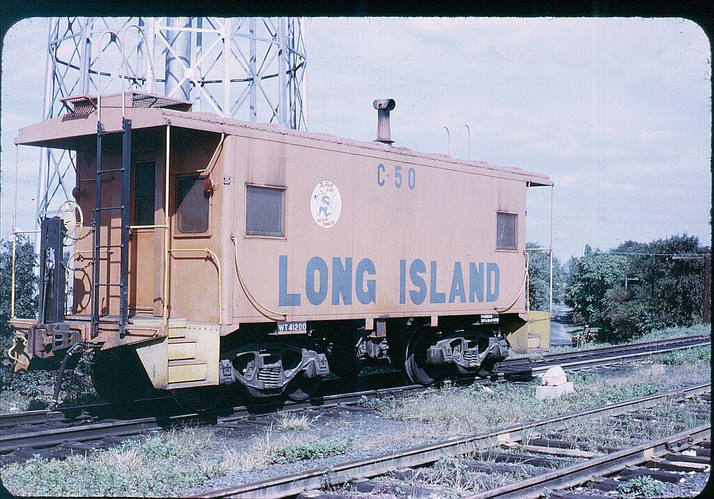 (197k, 1024x716)<br><b>Country:</b> United States<br><b>City:</b> New York<br><b>System:</b> Long Island Rail Road<br><b>Line:</b> LIRR Long Island City<br><b>Location:</b> Richmond Hill <br><b>Car:</b> LIRR Caboose 50 <br><b>Photo by:</b> Steve Hoskins<br><b>Notes:</b> 1960s<br><b>Viewed (this week/total):</b> 2 / 1359