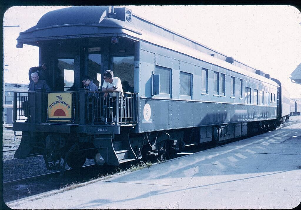 (121k, 1024x716)<br><b>Country:</b> United States<br><b>System:</b> Long Island Rail Road<br><b>Line:</b> LIRR Montauk<br><b>Location:</b> Montauk <br><b>Car:</b> LIRR Cannonball Observation Car 2038 <br><b>Photo by:</b> Steve Hoskins<br><b>Notes:</b> 1960s<br><b>Viewed (this week/total):</b> 3 / 2738