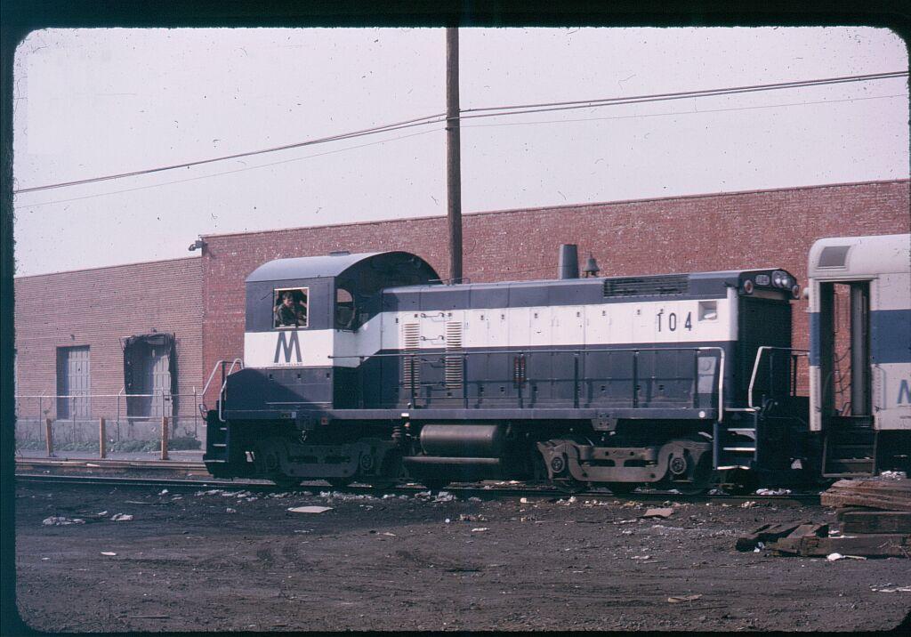 (121k, 1024x716)<br><b>Country:</b> United States<br><b>City:</b> New York<br><b>System:</b> Long Island Rail Road<br><b>Line:</b> LIRR Long Island City<br><b>Location:</b> Long Island City <br><b>Car:</b> LIRR SW1001 (Diesel) 104 <br><b>Photo by:</b> Steve Hoskins<br><b>Notes:</b> 1970s<br><b>Viewed (this week/total):</b> 2 / 1189
