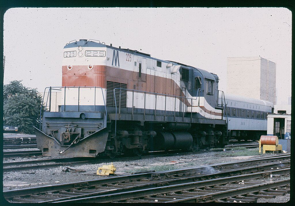 (167k, 1024x716)<br><b>Country:</b> United States<br><b>City:</b> New York<br><b>System:</b> Long Island Rail Road<br><b>Line:</b> LIRR Long Island City<br><b>Location:</b> Long Island City <br><b>Car:</b> LIRR Alco C-420 (Diesel) 225 <br><b>Photo by:</b> Steve Hoskins<br><b>Notes:</b> 1970s<br><b>Viewed (this week/total):</b> 2 / 1364