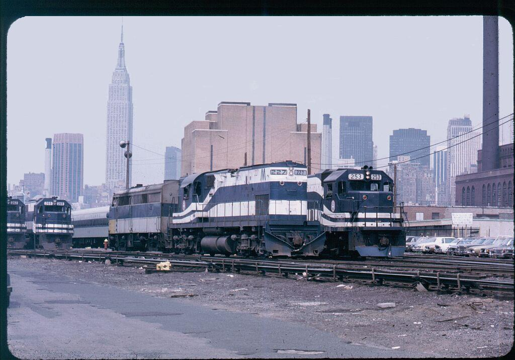 (134k, 1024x716)<br><b>Country:</b> United States<br><b>City:</b> New York<br><b>System:</b> Long Island Rail Road<br><b>Line:</b> LIRR Long Island City<br><b>Location:</b> Long Island City <br><b>Car:</b> LIRR Alco C-420 (Diesel) 227 <br><b>Photo by:</b> Steve Hoskins<br><b>Notes:</b> 1970s<br><b>Viewed (this week/total):</b> 4 / 1568