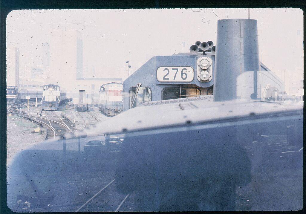 (119k, 1024x716)<br><b>Country:</b> United States<br><b>City:</b> New York<br><b>System:</b> Long Island Rail Road<br><b>Line:</b> LIRR Long Island City<br><b>Location:</b> Long Island City <br><b>Car:</b> LIRR GP38-2 (Diesel) 276 <br><b>Photo by:</b> Steve Hoskins<br><b>Notes:</b> 1970s<br><b>Viewed (this week/total):</b> 0 / 1258