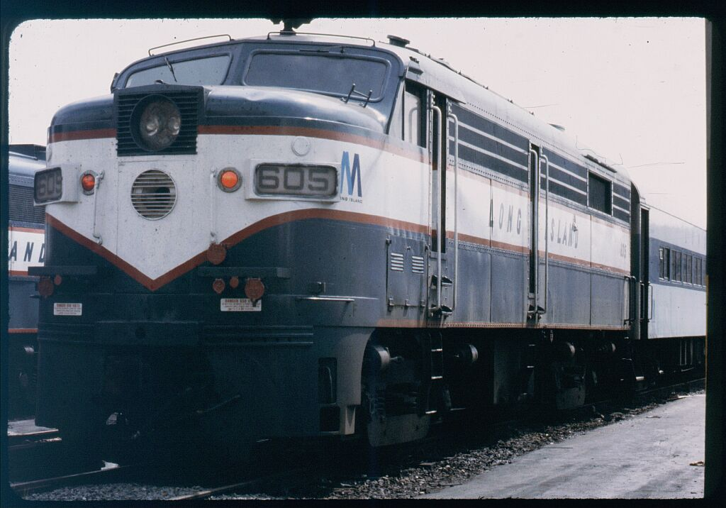 (106k, 1024x716)<br><b>Country:</b> United States<br><b>City:</b> New York<br><b>System:</b> Long Island Rail Road<br><b>Line:</b> LIRR Long Island City<br><b>Location:</b> Long Island City <br><b>Car:</b> LIRR Alco FA2M (HEP/Cab Only) 605 <br><b>Photo by:</b> Steve Hoskins<br><b>Notes:</b> 1970s<br><b>Viewed (this week/total):</b> 1 / 1247