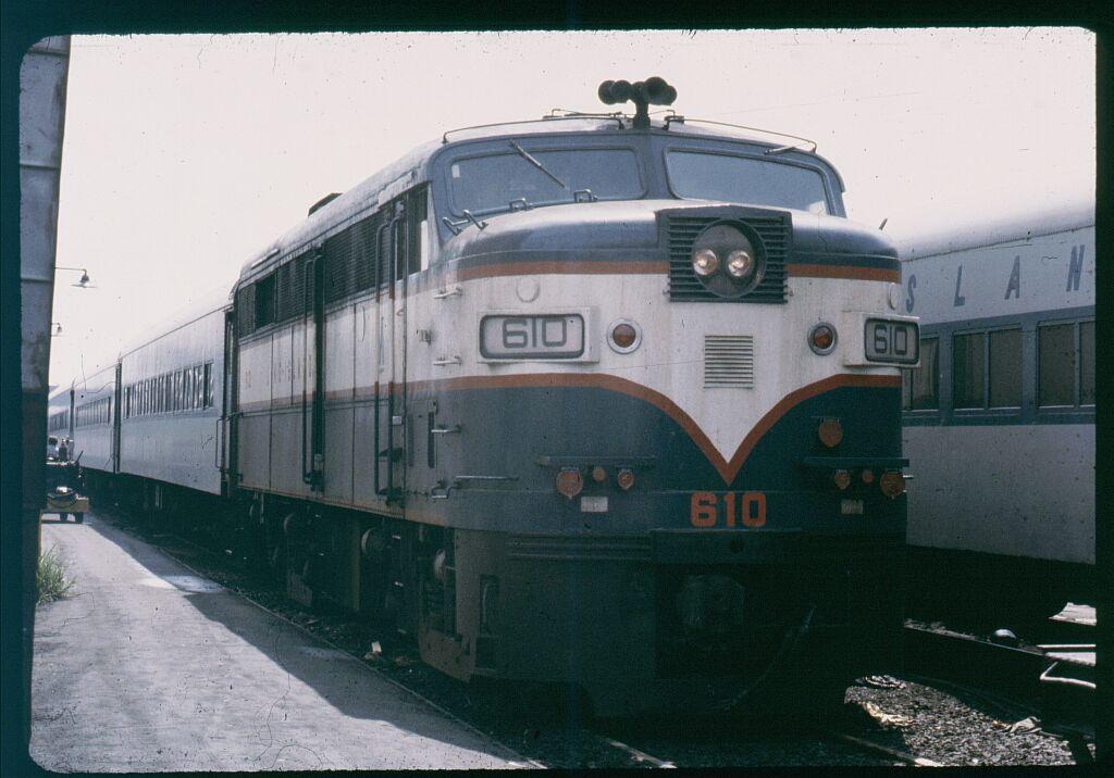 (99k, 1024x716)<br><b>Country:</b> United States<br><b>City:</b> New York<br><b>System:</b> Long Island Rail Road<br><b>Line:</b> LIRR Long Island City<br><b>Location:</b> Long Island City <br><b>Car:</b> LIRR Alco FA2M (HEP/Cab Only) 610 <br><b>Photo by:</b> Steve Hoskins<br><b>Notes:</b> 1970s<br><b>Viewed (this week/total):</b> 0 / 1085