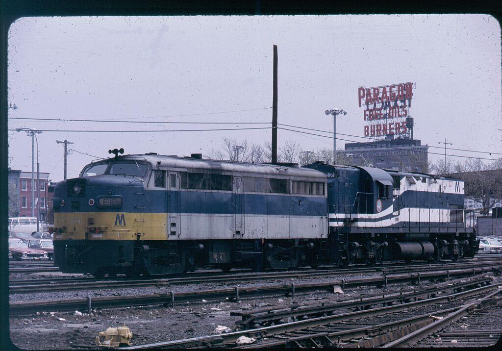 (136k, 1024x716)<br><b>Country:</b> United States<br><b>City:</b> New York<br><b>System:</b> Long Island Rail Road<br><b>Line:</b> LIRR Long Island City<br><b>Location:</b> Long Island City <br><b>Car:</b> LIRR Alco FA1M (HEP/Cab Only) 612 <br><b>Photo by:</b> Steve Hoskins<br><b>Notes:</b> 1970s<br><b>Viewed (this week/total):</b> 1 / 1248