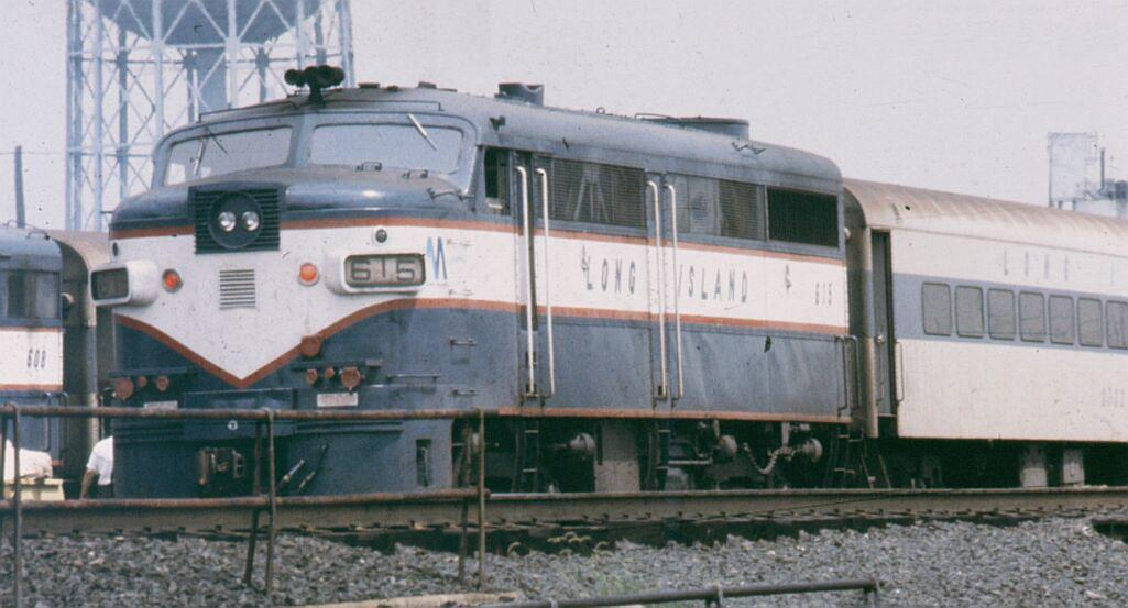 (85k, 1025x553)<br><b>Country:</b> United States<br><b>City:</b> New York<br><b>System:</b> Long Island Rail Road<br><b>Line:</b> LIRR Long Island City<br><b>Location:</b> Richmond Hill <br><b>Car:</b> LIRR Alco FA1M (HEP/Cab Only) 615 <br><b>Photo by:</b> Steve Hoskins<br><b>Notes:</b> 1970s<br><b>Viewed (this week/total):</b> 0 / 1130