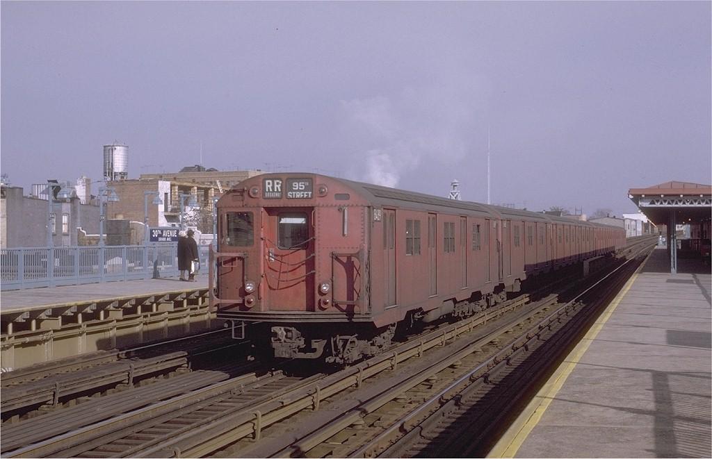 (166k, 1024x661)<br><b>Country:</b> United States<br><b>City:</b> New York<br><b>System:</b> New York City Transit<br><b>Line:</b> BMT Astoria Line<br><b>Location:</b> 30th/Grand Aves. <br><b>Route:</b> RR<br><b>Car:</b> R-30 (St. Louis, 1961) 8489 <br><b>Photo by:</b> Joe Testagrose<br><b>Date:</b> 11/26/1970<br><b>Viewed (this week/total):</b> 0 / 3001