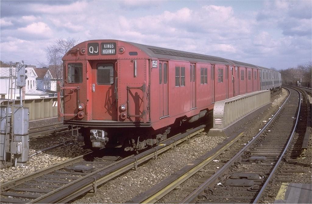 (217k, 1024x671)<br><b>Country:</b> United States<br><b>City:</b> New York<br><b>System:</b> New York City Transit<br><b>Line:</b> BMT Brighton Line<br><b>Location:</b> Sheepshead Bay <br><b>Route:</b> QJ<br><b>Car:</b> R-30 (St. Louis, 1961) 8569 <br><b>Photo by:</b> Doug Grotjahn<br><b>Collection of:</b> Joe Testagrose<br><b>Date:</b> 3/21/1971<br><b>Viewed (this week/total):</b> 0 / 2780