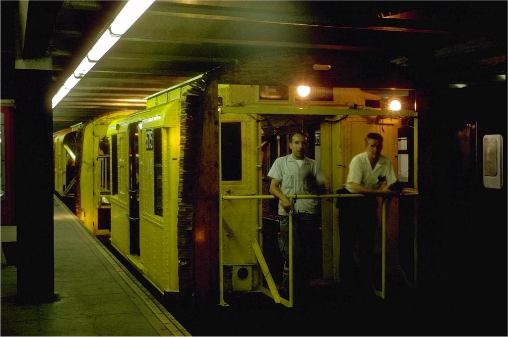 (162k, 1024x681)<br><b>Country:</b> United States<br><b>City:</b> New York<br><b>System:</b> New York City Transit<br><b>Line:</b> IND Queens Boulevard Line<br><b>Location:</b> 179th Street <br><b>Route:</b> Work Service<br><b>Car:</b> R-1 (American Car & Foundry, 1930-1931) XC575 (ex-118)<br><b>Photo by:</b> Steve Zabel<br><b>Collection of:</b> Joe Testagrose<br><b>Date:</b> 7/10/1969<br><b>Viewed (this week/total):</b> 0 / 4174