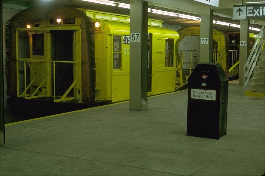 (159k, 1024x680)<br><b>Country:</b> United States<br><b>City:</b> New York<br><b>System:</b> New York City Transit<br><b>Line:</b> IND 6th Avenue Line<br><b>Location:</b> 57th Street <br><b>Route:</b> Work Service<br><b>Car:</b> R-1 (American Car & Foundry, 1930-1931) XC575 (ex-118)<br><b>Photo by:</b> Joe Testagrose<br><b>Date:</b> 7/7/1969<br><b>Viewed (this week/total):</b> 4 / 3229