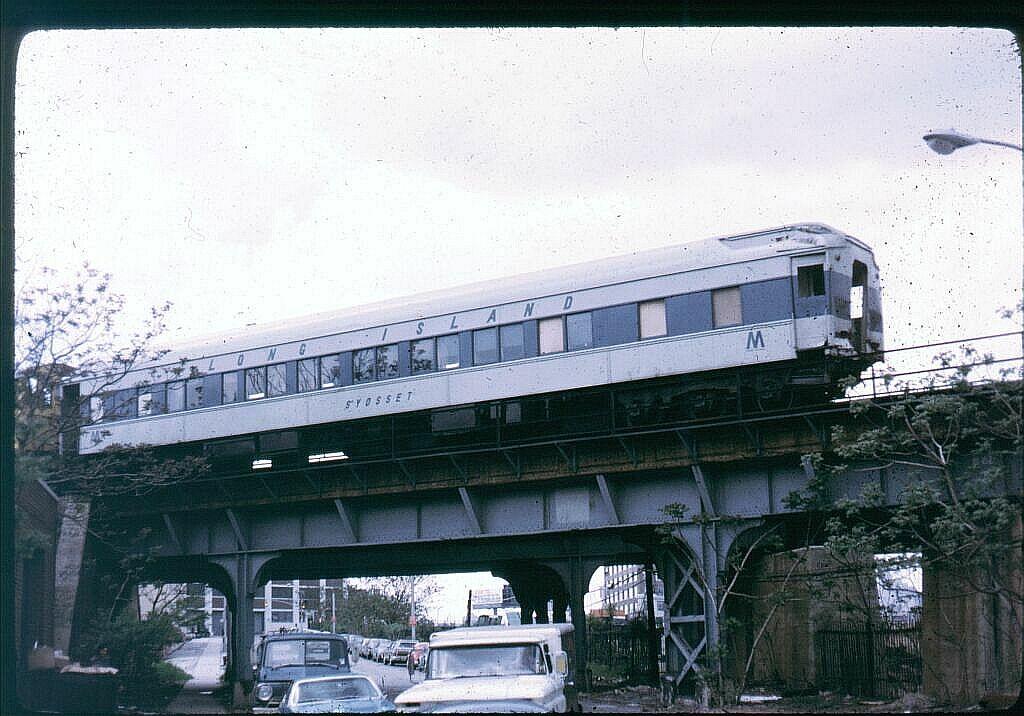 (123k, 1024x716)<br><b>Country:</b> United States<br><b>City:</b> New York<br><b>System:</b> Long Island Rail Road<br><b>Line:</b> LIRR Long Island City<br><b>Location:</b> Richmond Hill <br><b>Car:</b> LIRR P74 Coach  2001 <br><b>Photo by:</b> Steve Hoskins<br><b>Notes:</b> 1970s<br><b>Viewed (this week/total):</b> 10 / 4066