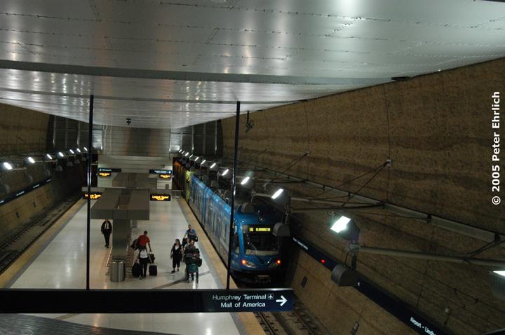 (139k, 720x478)<br><b>Country:</b> United States<br><b>City:</b> Minneapolis, MN<br><b>System:</b> MNDOT Light Rail Transit<br><b>Line:</b> Hiawatha Line<br><b>Location:</b> <b><u>Airport-Lindbergh Terminal </b></u><br><b>Car:</b> Bombardier Flexity Swift  118 <br><b>Photo by:</b> Peter Ehrlich<br><b>Date:</b> 9/4/2005<br><b>Notes:</b> Leaving Lindbergh Terminal Station outbound.<br><b>Viewed (this week/total):</b> 1 / 2087