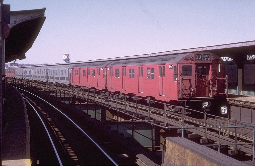 (177k, 1024x665)<br><b>Country:</b> United States<br><b>City:</b> New York<br><b>System:</b> New York City Transit<br><b>Line:</b> BMT Nassau Street/Jamaica Line<br><b>Location:</b> Queens Boulevard (Demolished) <br><b>Route:</b> QJ<br><b>Car:</b> R-30 (St. Louis, 1961) 8252 <br><b>Photo by:</b> Doug Grotjahn<br><b>Collection of:</b> Joe Testagrose<br><b>Date:</b> 2/28/1971<br><b>Viewed (this week/total):</b> 1 / 3317