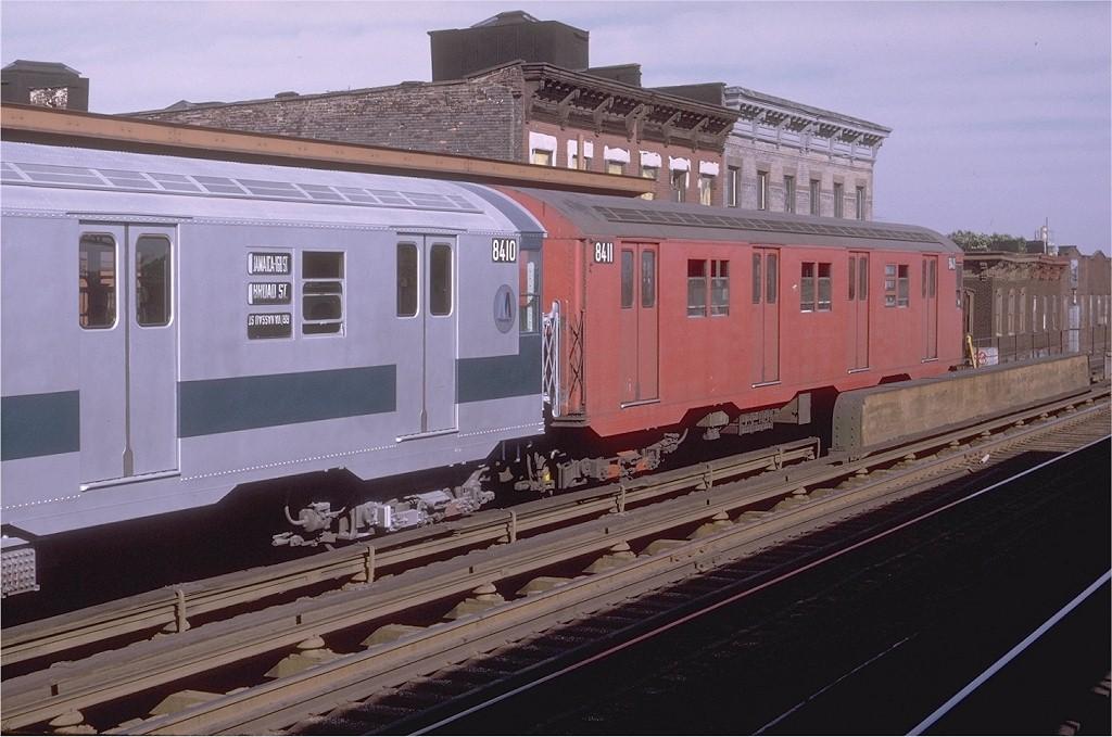 (182k, 1024x679)<br><b>Country:</b> United States<br><b>City:</b> New York<br><b>System:</b> New York City Transit<br><b>Line:</b> BMT Nassau Street/Jamaica Line<br><b>Location:</b> Kosciuszko Street <br><b>Route:</b> QJ<br><b>Car:</b> R-30 (St. Louis, 1961) 8411 <br><b>Photo by:</b> Doug Grotjahn<br><b>Collection of:</b> Joe Testagrose<br><b>Date:</b> 8/29/1970<br><b>Viewed (this week/total):</b> 1 / 2894