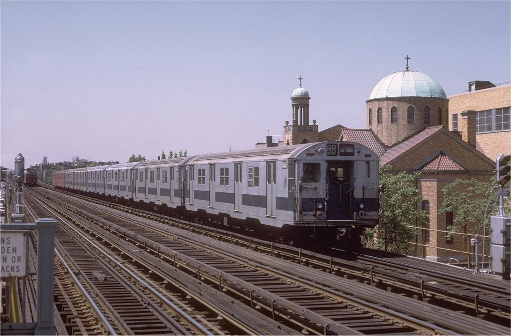 (208k, 1024x673)<br><b>Country:</b> United States<br><b>City:</b> New York<br><b>System:</b> New York City Transit<br><b>Line:</b> BMT Astoria Line<br><b>Location:</b> 30th/Grand Aves. <br><b>Route:</b> RR<br><b>Car:</b> R-30 (St. Louis, 1961) 8417 <br><b>Photo by:</b> Joe Testagrose<br><b>Date:</b> 5/27/1972<br><b>Viewed (this week/total):</b> 0 / 3032