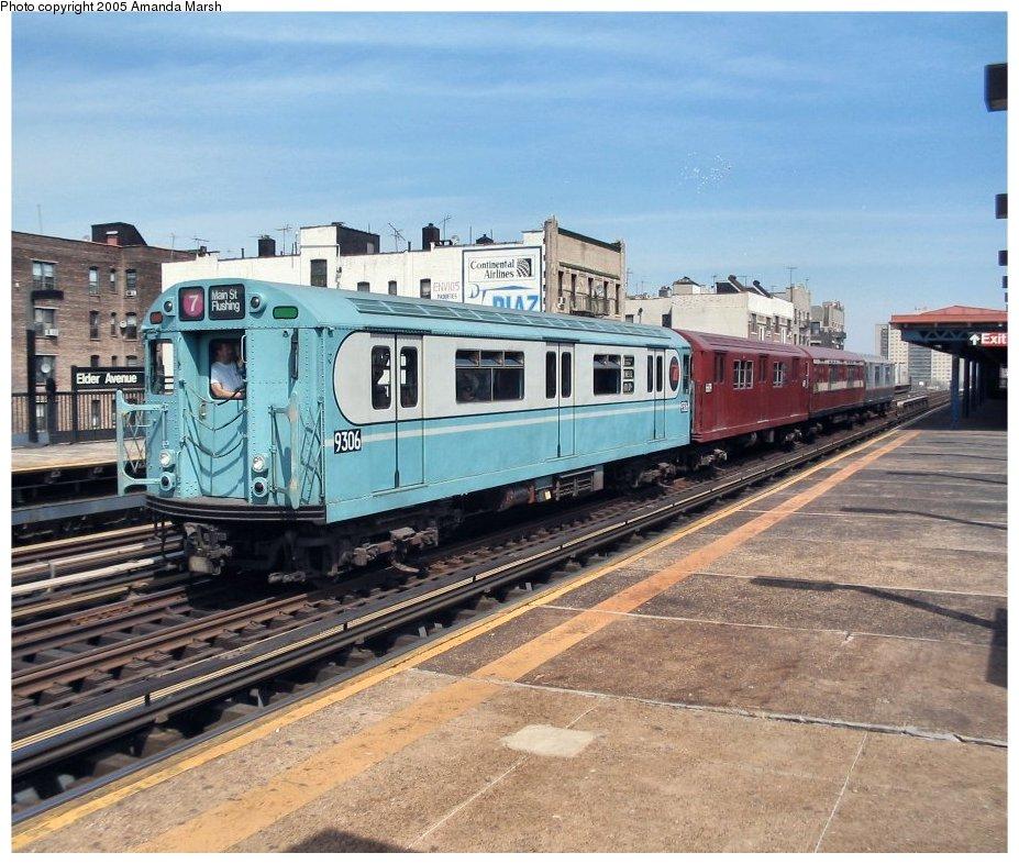 (166k, 927x786)<br><b>Country:</b> United States<br><b>City:</b> New York<br><b>System:</b> New York City Transit<br><b>Line:</b> IRT Pelham Line<br><b>Location:</b> Elder Avenue <br><b>Route:</b> Fan Trip<br><b>Car:</b> R-33 World's Fair (St. Louis, 1963-64) 9306 <br><b>Photo by:</b> Amanda Marsh<br><b>Date:</b> 4/17/2004<br><b>Viewed (this week/total):</b> 1 / 3066