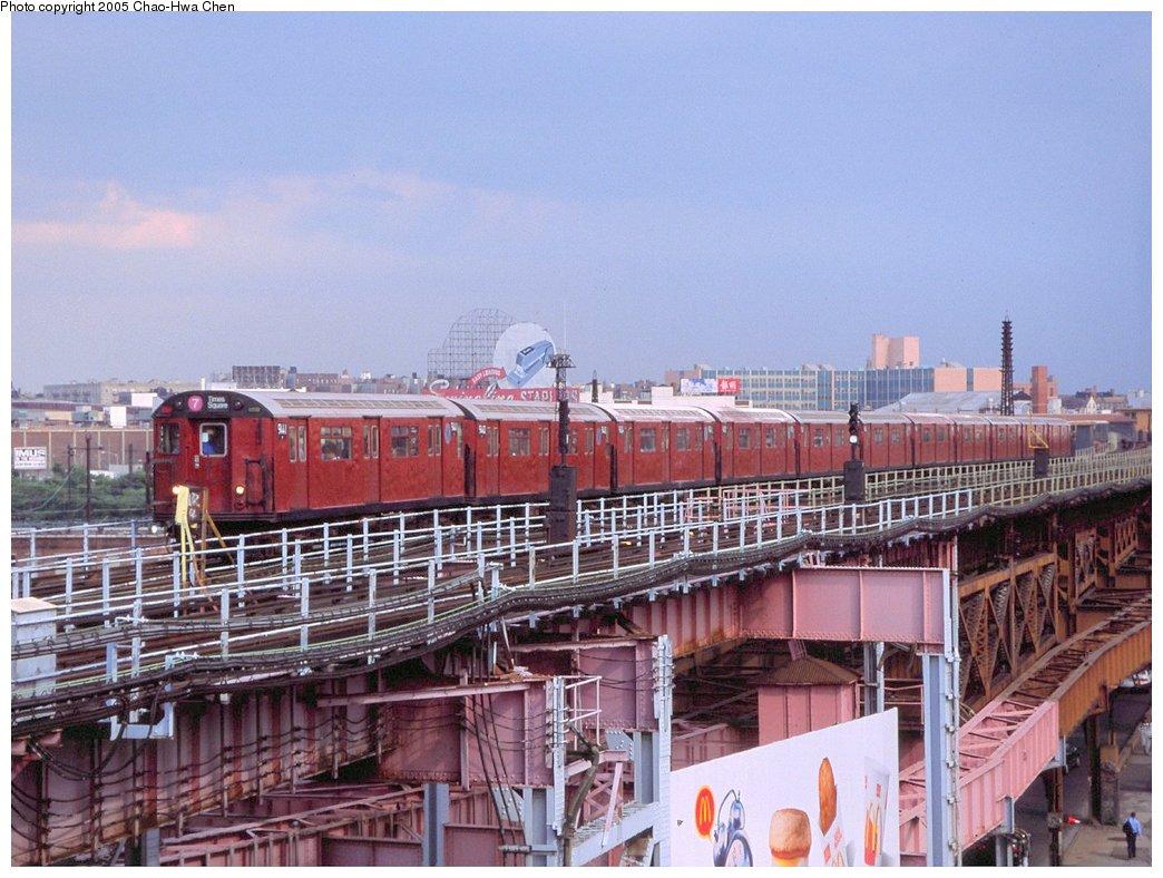 (180k, 1044x788)<br><b>Country:</b> United States<br><b>City:</b> New York<br><b>System:</b> New York City Transit<br><b>Line:</b> IRT Flushing Line<br><b>Location:</b> Queensborough Plaza <br><b>Route:</b> 7<br><b>Car:</b> R-36 World's Fair (St. Louis, 1963-64) 9441 <br><b>Photo by:</b> Chao-Hwa Chen<br><b>Date:</b> 6/18/1998<br><b>Viewed (this week/total):</b> 2 / 2710