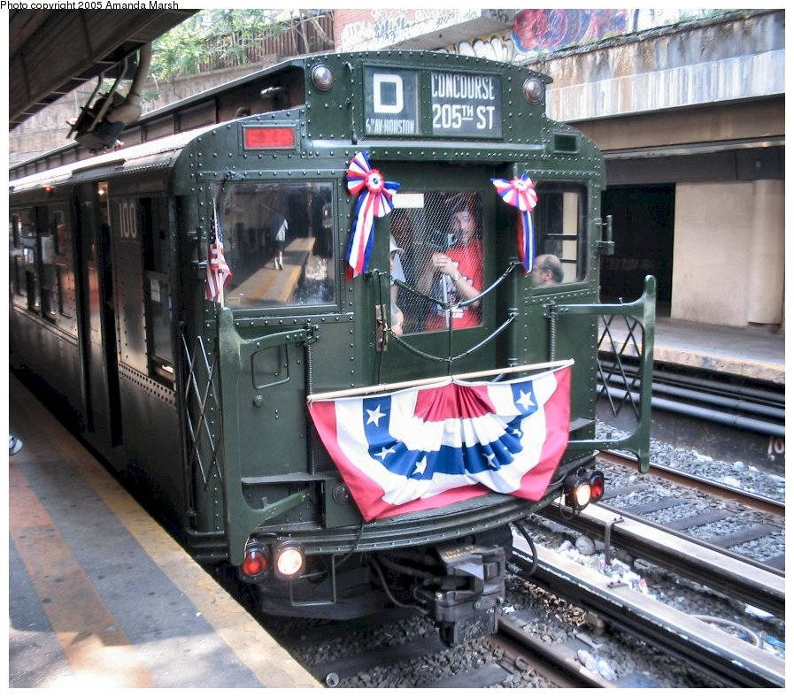 (180k, 897x788)<br><b>Country:</b> United States<br><b>City:</b> New York<br><b>System:</b> New York City Transit<br><b>Line:</b> BMT Brighton Line<br><b>Location:</b> Church Avenue <br><b>Route:</b> Fan Trip<br><b>Car:</b> R-1 (American Car & Foundry, 1930-1931) 100 <br><b>Photo by:</b> Amanda Marsh<br><b>Date:</b> 5/23/2004<br><b>Viewed (this week/total):</b> 0 / 4294