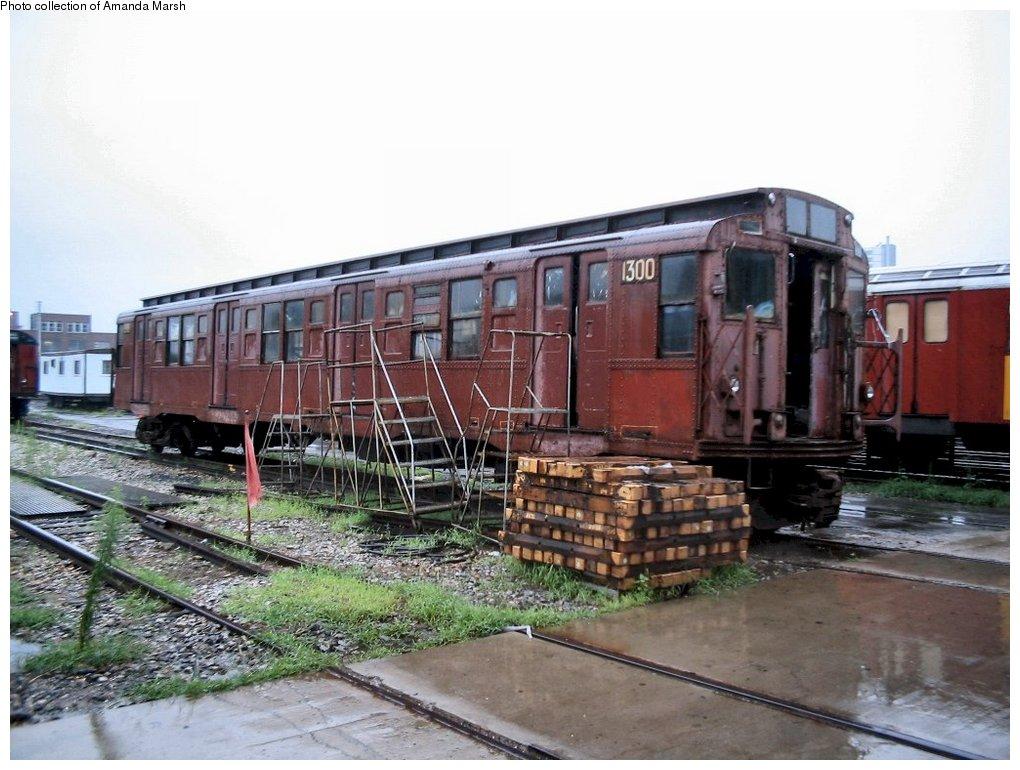 (156k, 1020x770)<br><b>Country:</b> United States<br><b>City:</b> New York<br><b>System:</b> New York City Transit<br><b>Location:</b> 207th Street Yard<br><b>Car:</b> R-6-1 (Pressed Steel, 1936)  1300 <br><b>Collection of:</b> Amanda Marsh<br><b>Date:</b> 7/18/2004<br><b>Viewed (this week/total):</b> 5 / 2536