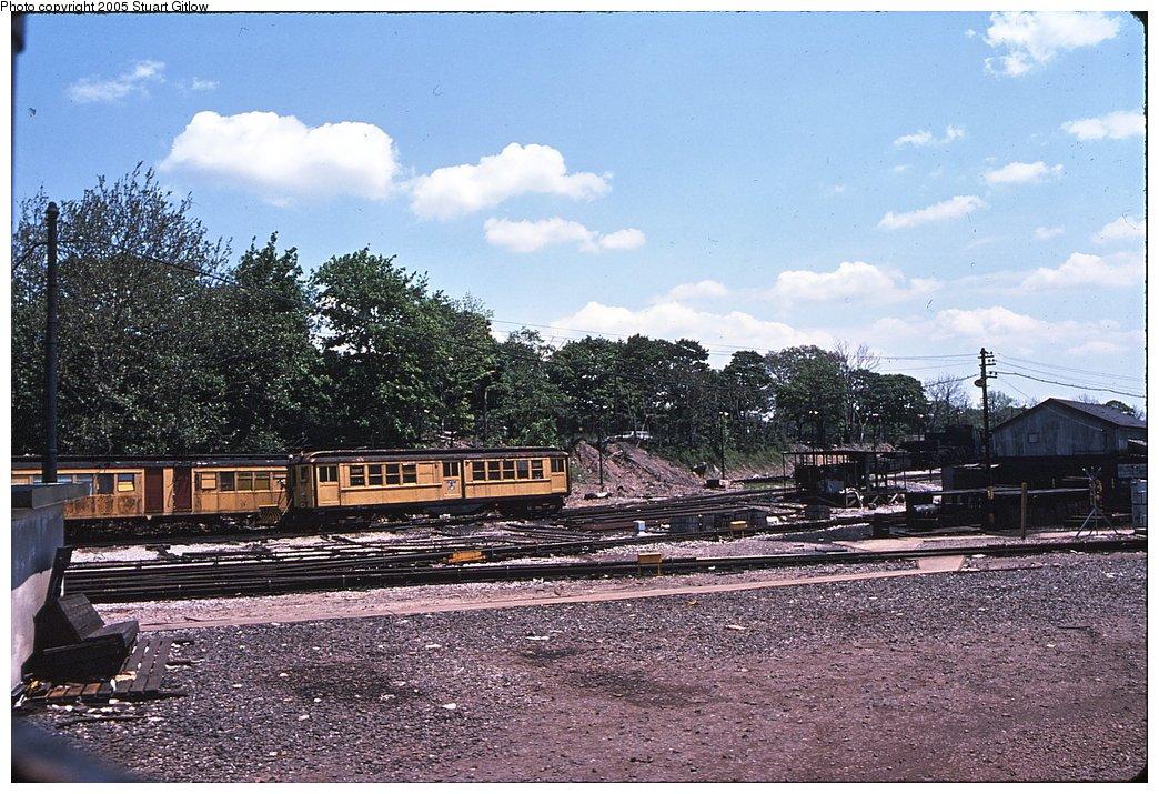 (223k, 1044x715)<br><b>Country:</b> United States<br><b>City:</b> New York<br><b>System:</b> New York City Transit<br><b>Location:</b> 36th Street Yard<br><b>Car:</b> Snow Plow (Low-V Converted) 30187 (ex-4642)<br><b>Photo by:</b> Stuart Gitlow<br><b>Notes:</b> 1979-Early 1980s<br><b>Viewed (this week/total):</b> 1 / 2328