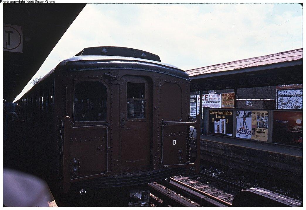 (134k, 1044x717)<br><b>Country:</b> United States<br><b>City:</b> New York<br><b>System:</b> New York City Transit<br><b>Line:</b> BMT Brighton Line<br><b>Location:</b> Kings Highway <br><b>Car:</b> BMT A/B-Type Standard 2390/2392 <br><b>Photo by:</b> Stuart Gitlow<br><b>Notes:</b> Sheepshead Bay, Brighton Line?<br><b>Viewed (this week/total):</b> 0 / 2337