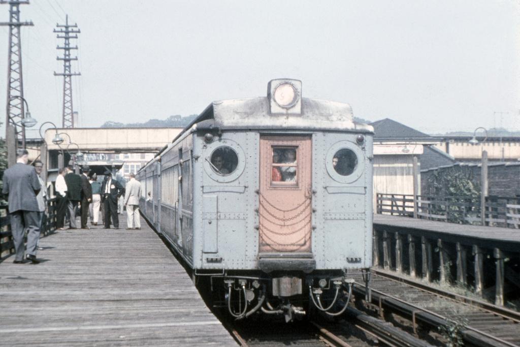 (195k, 1044x711)<br><b>Country:</b> United States<br><b>City:</b> New York<br><b>System:</b> Long Island Rail Road<br><b>Line:</b> LIRR Rockaway<br><b>Location:</b> Brooklyn Manor <br><b>Route:</b> Fan Trip<br><b>Car:</b> LIRR MPB-54  <br><b>Collection of:</b> David Pirmann<br><b>Date:</b> 9/23/1956<br><b>Viewed (this week/total):</b> 7 / 3648