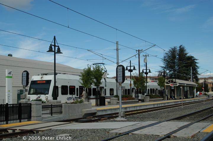 (138k, 720x478)<br><b>Country:</b> United States<br><b>City:</b> San Jose, CA<br><b>System:</b> Santa Clara VTA<br><b>Line:</b> VTA Vasona Line<br><b>Location:</b> Bascom <br><b>Car:</b> VTA Kinki-Sharyo 949 <br><b>Photo by:</b> Peter Ehrlich<br><b>Date:</b> 10/1/2005<br><b>Notes:</b> At Bascom Station outbound.<br><b>Viewed (this week/total):</b> 0 / 1169