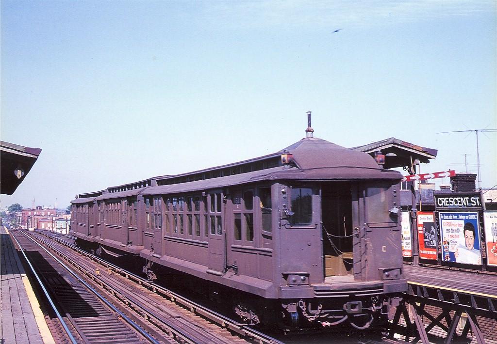 (223k, 1024x710)<br><b>Country:</b> United States<br><b>City:</b> New York<br><b>System:</b> New York City Transit<br><b>Line:</b> BMT Fulton<br><b>Location:</b> Crescent Street <br><b>Car:</b> BMT C 1511 <br><b>Photo by:</b> Arthur Myrick/Harold Fagerberg Coll.<br><b>Collection of:</b> Joe Testagrose<br><b>Date:</b> 5/18/1955<br><b>Viewed (this week/total):</b> 4 / 3896