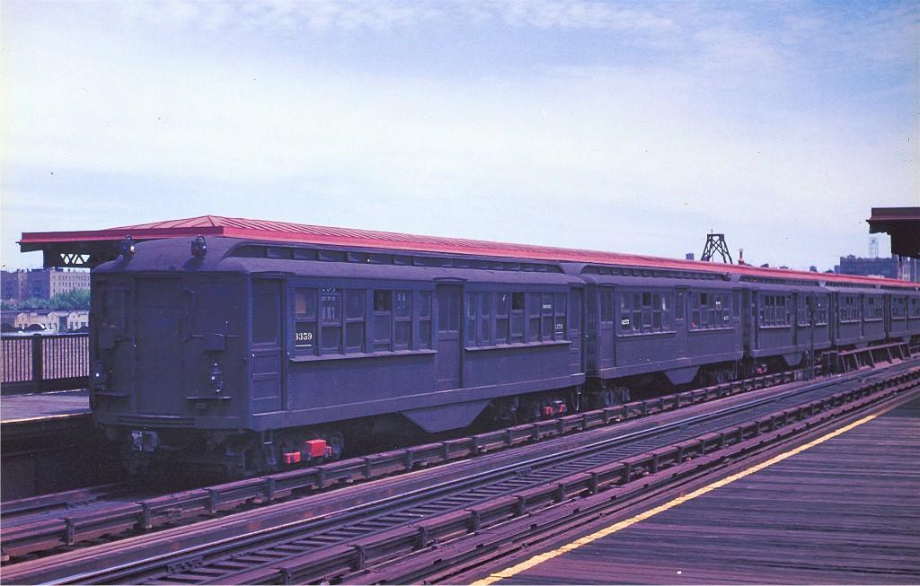 (179k, 1024x653)<br><b>Country:</b> United States<br><b>City:</b> New York<br><b>System:</b> New York City Transit<br><b>Line:</b> IRT Pelham Line<br><b>Location:</b> Morrison/Soundview Aves. <br><b>Car:</b> Hi-V 3359 <br><b>Photo by:</b> Arthur Myrick/Harold Fagerberg Coll.<br><b>Collection of:</b> Joe Testagrose<br><b>Date:</b> 5/27/1954<br><b>Viewed (this week/total):</b> 1 / 3423