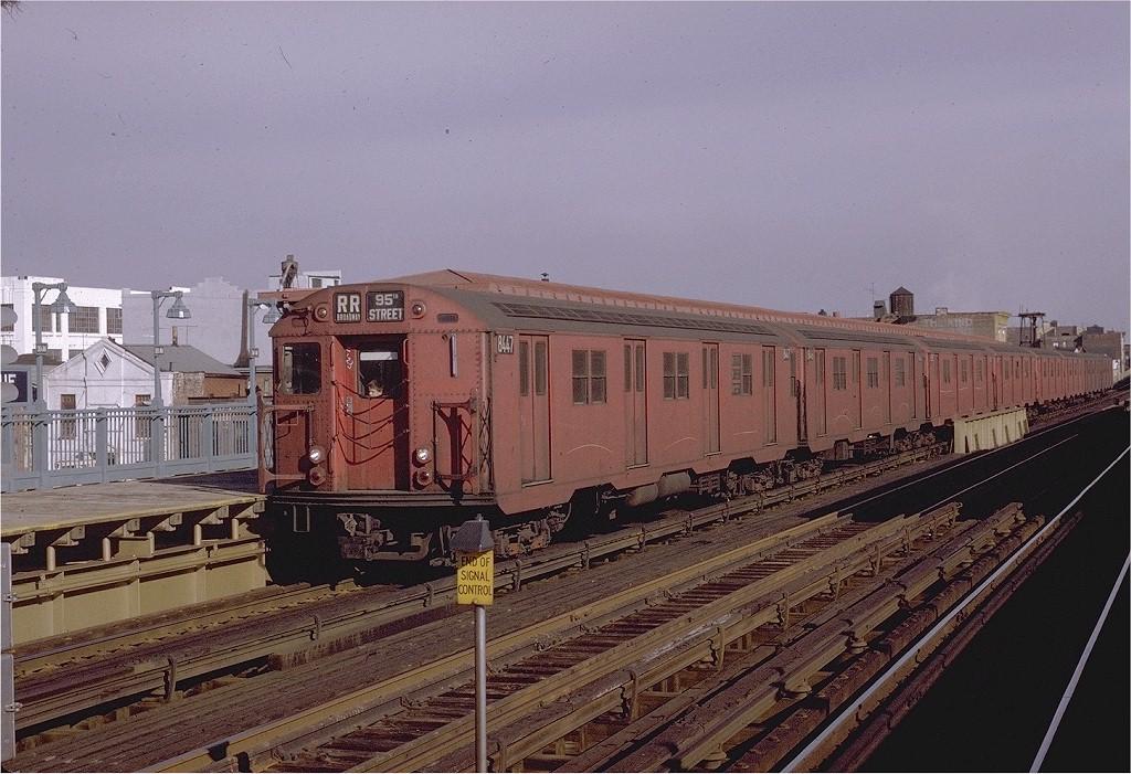 (219k, 1024x701)<br><b>Country:</b> United States<br><b>City:</b> New York<br><b>System:</b> New York City Transit<br><b>Line:</b> BMT Astoria Line<br><b>Location:</b> 39th/Beebe Aves. <br><b>Route:</b> RR<br><b>Car:</b> R-30 (St. Louis, 1961) 8447 <br><b>Photo by:</b> Joe Testagrose<br><b>Date:</b> 11/26/1970<br><b>Viewed (this week/total):</b> 1 / 2418