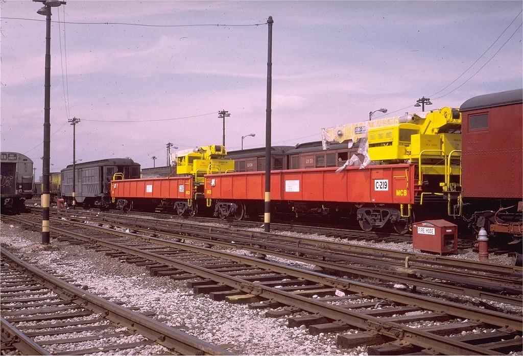 (271k, 1024x697)<br><b>Country:</b> United States<br><b>City:</b> New York<br><b>System:</b> New York City Transit<br><b>Location:</b> 36th Street Yard<br><b>Car:</b> Crane Car 219 <br><b>Photo by:</b> Steve Zabel<br><b>Collection of:</b> Joe Testagrose<br><b>Date:</b> 3/21/1973<br><b>Viewed (this week/total):</b> 0 / 2259
