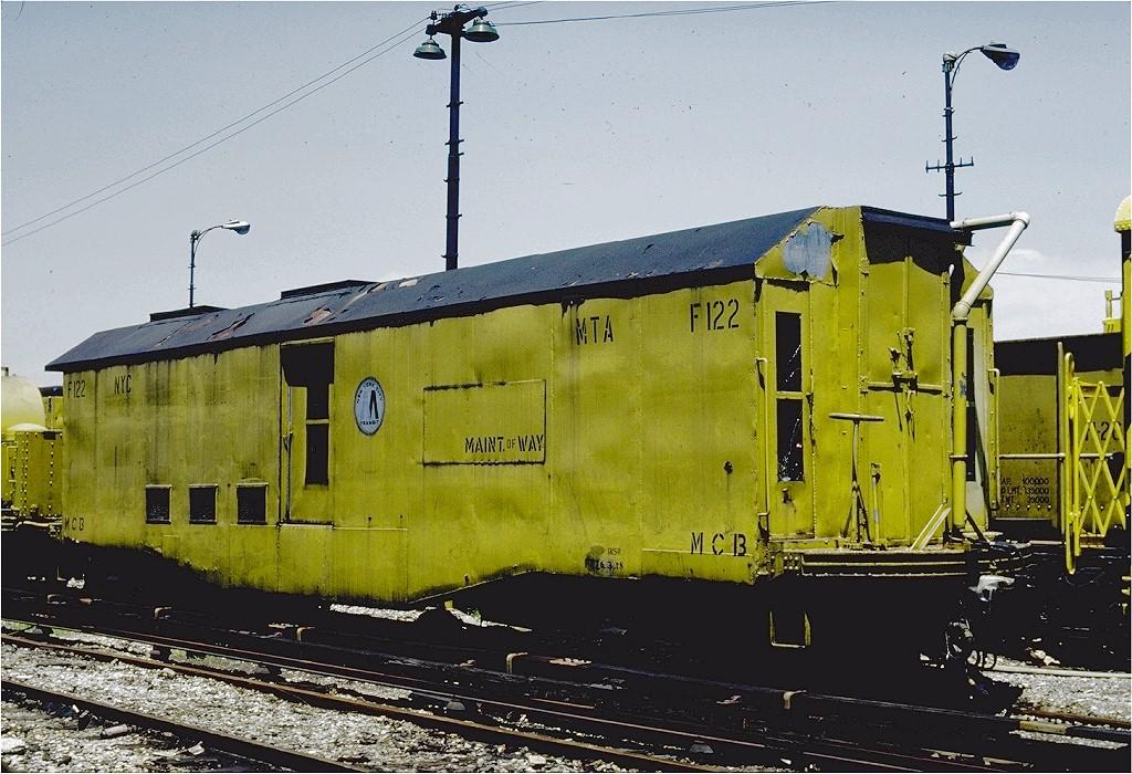 (231k, 1024x700)<br><b>Country:</b> United States<br><b>City:</b> New York<br><b>System:</b> New York City Transit<br><b>Location:</b> 36th Street Yard<br><b>Car:</b> Speno Rail Grinder F122 <br><b>Photo by:</b> Steve Zabel<br><b>Collection of:</b> Joe Testagrose<br><b>Date:</b> 6/18/1981<br><b>Viewed (this week/total):</b> 6 / 1914