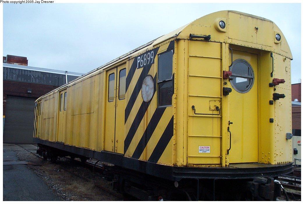 (131k, 1044x700)<br><b>Country:</b> United States<br><b>City:</b> New York<br><b>System:</b> New York City Transit<br><b>Location:</b> 207th Street Yard<br><b>Car:</b> R-71 Pump/Reach Car (R-17/R-21/R-22 Rebuilds) P6899 (ex-6899)<br><b>Photo by:</b> J. Dresner<br><b>Date:</b> 10/22/2005<br><b>Viewed (this week/total):</b> 1 / 4376