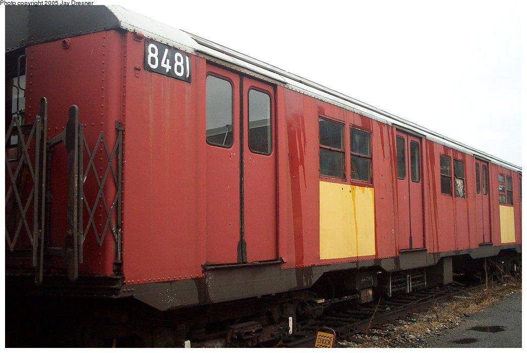 (114k, 1044x700)<br><b>Country:</b> United States<br><b>City:</b> New York<br><b>System:</b> New York City Transit<br><b>Location:</b> 207th Street Yard<br><b>Car:</b> R-30 (St. Louis, 1961) 8481 <br><b>Photo by:</b> J. Dresner<br><b>Date:</b> 10/22/2005<br><b>Viewed (this week/total):</b> 1 / 2807