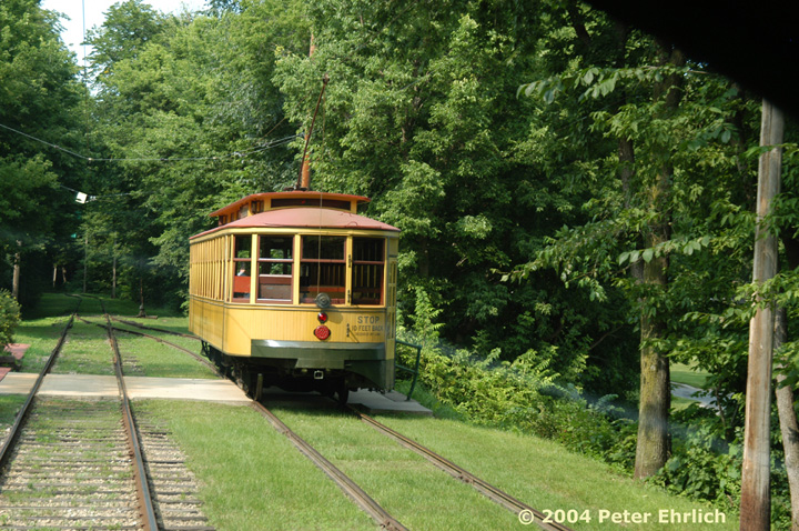 (225k, 720x478)<br><b>Country:</b> United States<br><b>City:</b> Minneapolis, MN<br><b>System:</b> Minnesota Streetcar Museum <br><b>Line:</b> Como-Harriet Line<br><b>Car:</b>  1300 <br><b>Photo by:</b> Peter Ehrlich<br><b>Date:</b> 8/1/2004<br><b>Notes:</b> Approaching Linden Hills outbound.<br><b>Viewed (this week/total):</b> 6 / 1271